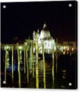Maria Della Salute In Venice At Night Acrylic Print