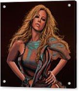 Mariah Carey Painting Acrylic Print