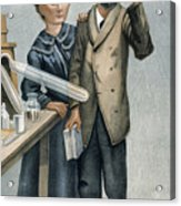 Marie And Pierre Curie Acrylic Print