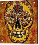 Marigold Skull Acrylic Print