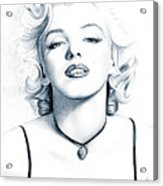 Marilyn Black And White Acrylic Print