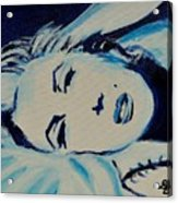 Marilyn In Blue Acrylic Print