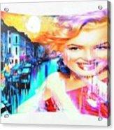 Marilyn In Italy Acrylic Print