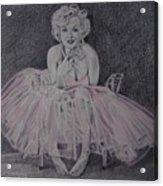 Marilyn In Pink Acrylic Print