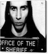 Marilyn Manson Mug Shot Vertical Acrylic Print
