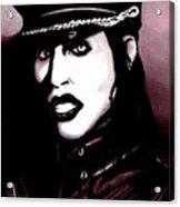 Marilyn Manson Portrait Acrylic Print