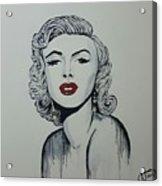 Marilyn Monroe Dripping Acrylic Print