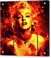 Marilyn Monroe   Golden  Acrylic Print