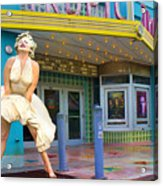 Marilyn Monroe In Front Of Tropic Theatre In Key West Acrylic Print
