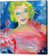 Marilyn Monroe In Pink And Blue Acrylic Print