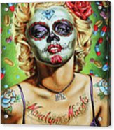 Marilyn Monroe Jfk Day Of The Dead  Acrylic Print