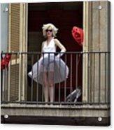 Marilyn Monroe Lookalike Acrylic Print