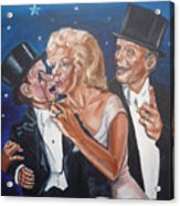 Marilyn Monroe Marries Charlie Mccarthy Acrylic Print