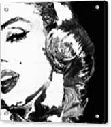 Marilyn Monroe Painting - Bombshell Black And White - By Sharon Cummings Acrylic Print