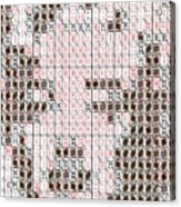 Marilyn Monroe Playing Card Mosaic Acrylic Print