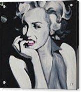 Marilyn Monroe Portrait Acrylic Print by Mikayla Ziegler