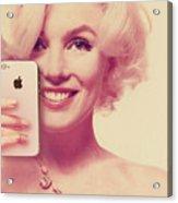 Marilyn Monroe Selfie 1 Acrylic Print