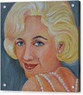 Marilyn Monroe With Pearls Acrylic Print