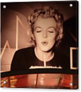 Marilyn Over The Red Carpet Acrylic Print