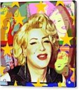 Marilyn Superstar Pop Acrylic Print