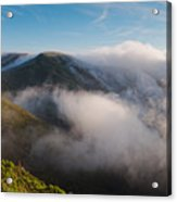 Marin Headlands Fog Rising - Sausalito Marin County California Acrylic Print