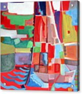 Marina Abstract  Acrylics Paintings Acrylic Print by Therese AbouNader