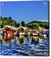 Marina At Cheat Lake Clear Day Acrylic Print
