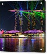 Marina Bay Sands Lasershow Acrylic Print