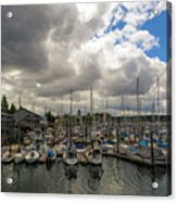 Marina In Olympia Washington Waterfront Acrylic Print
