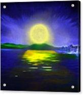 Marina Moonrise Acrylic Print