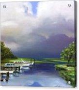 Marina On The Intracoastal Waterway  South Carolina Acrylic Print