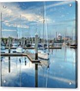 Marina Sunrise Acrylic Print