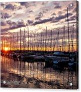 Marina Sunset Acrylic Print