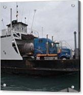 Marine City Mich Car Truck Ferry Acrylic Print