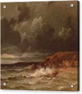 Marine Landscape The Cape And Dunes Of Saint Quentin 1870 Acrylic Print