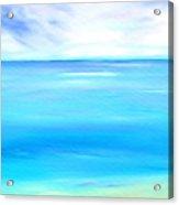 Marine Marble Acrylic Print