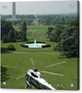 Marine One Lifts Off From The South Acrylic Print