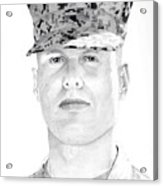 Marine Sgt Joseph Fankhauser  Acrylic Print