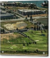 Mariners Point Golf Center In Foster City, California Aerial Photo Acrylic Print
