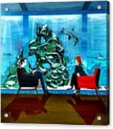 Marinelife Observing Couple Sitting In Chairs Acrylic Print