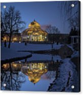 Marjorie Mcneely Conservatory At Dusk Acrylic Print