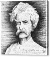 Mark Twain In His Own Words Acrylic Print