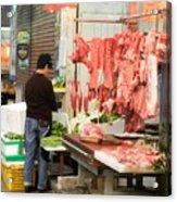Market Butchery Hong Kong Acrylic Print
