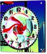 Market Clock 2 Acrylic Print
