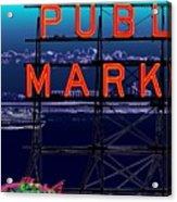 Market Ferry Acrylic Print