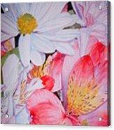 Market Flowers - Watercolor Acrylic Print
