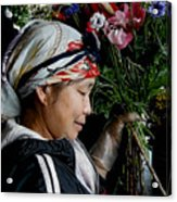 Market Flowers Acrylic Print