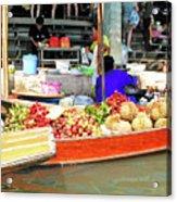 Market In Thailand Acrylic Print