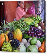 market stall in Nicaragua Acrylic Print