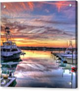Marlin Quay Marina At Sunset Acrylic Print
